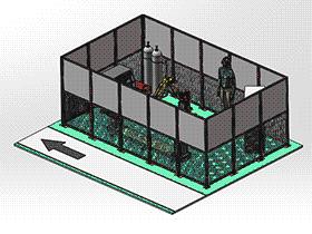 焊接机器人工作站方案设计图 zdwi1010 通用格式 3D图纸 三维模型