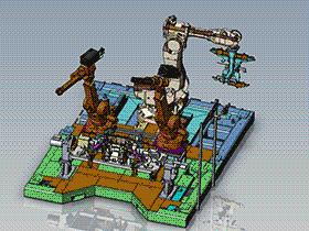 前副车架机器人自动焊接工作站 zdwi1011 通用格式 3D图纸 三维模型