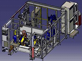 机器人焊接工作站(带翻转台) zdwi1012 通用格式 3D图纸 三维模型