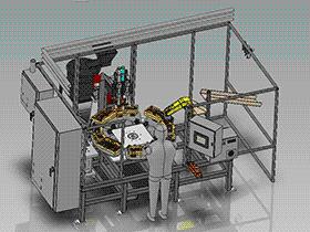 机器人焊接机、转盘式非标自动化设备 zdwi1013 通用格式 3D图纸 三维模型