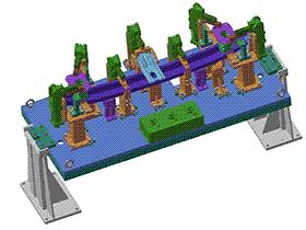 机器人焊装夹具 zdwi1014 通用格式 3D图纸 三维模型