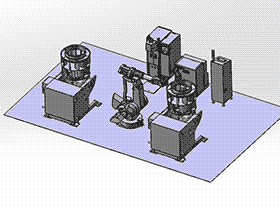 机器人双工位叶轮焊接设备系统图 zdwi1015 通用格式 3D图纸 三维模型
