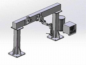 龙门式焊接机器人 zdwi1017 通用格式 3D图纸 三维模型