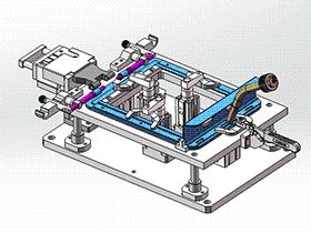 保险箱门框机器人焊接夹具 zdwi2002 solidworks 3D图纸 三维模型