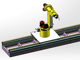 焊接机器人导轨 zdwi2003 solidworks 3D图纸 三维模型
