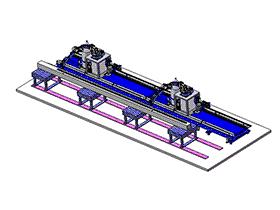 机器人焊接线方案 zdwi2005 solidworks 3D图纸 三维模型