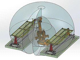 ABB激光焊接机器人工作站 zdwi2008 solidworks 3D图纸 三维模型