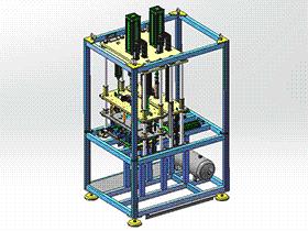 两工位热铆焊接机 zdwm1008 solidworks 3D图纸 三维模型